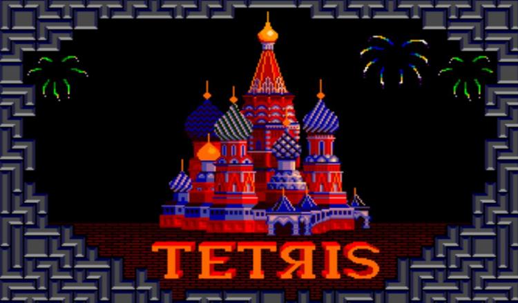Imagen del juego Tetris de Atari