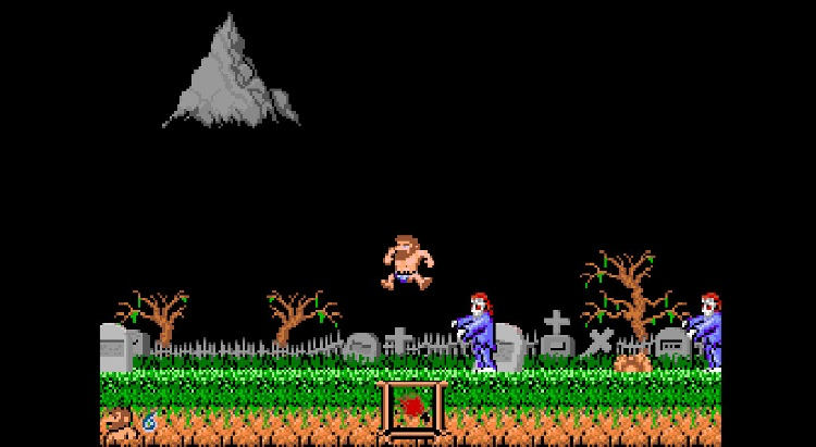 Sir Arthur en calzoncillos en Ghosts and Goblins Arcade