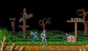 Pantalla cementerio de Ghosts and Goblins Arcade