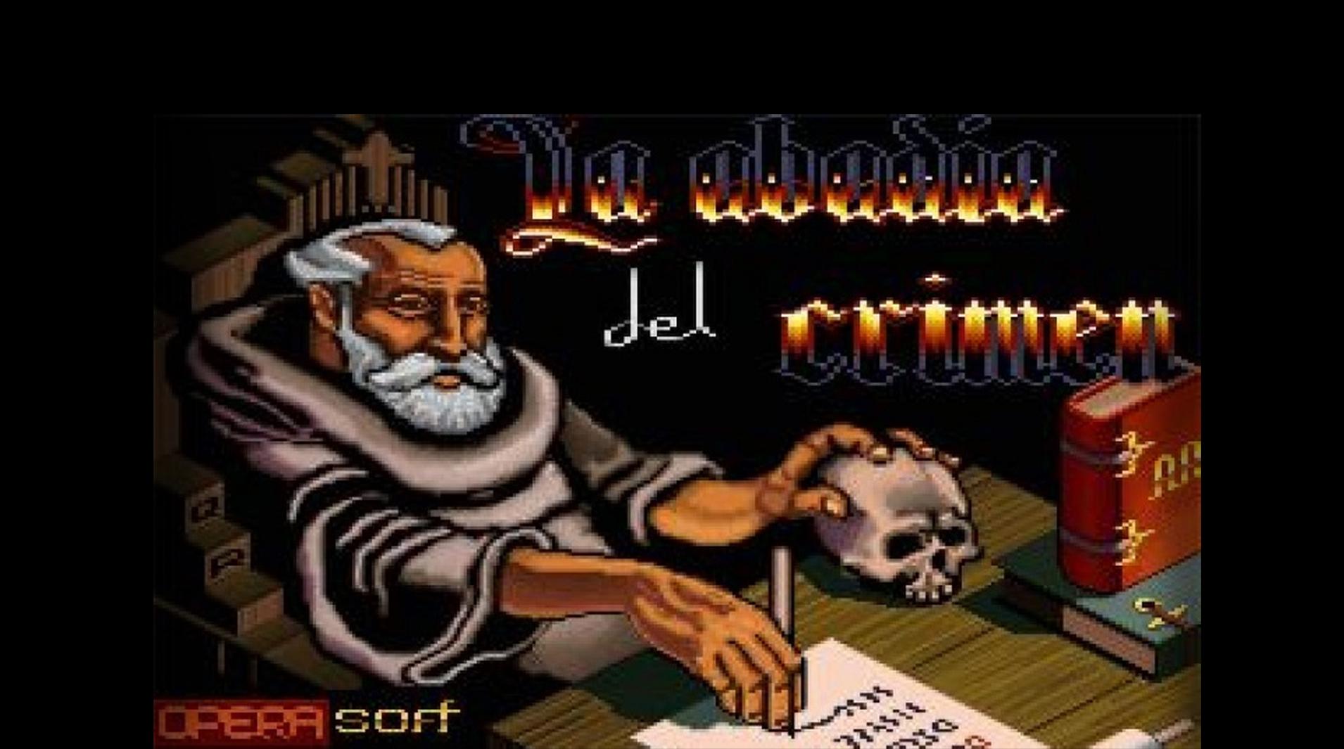 Portada del videojuego español La Abadía del Crimen