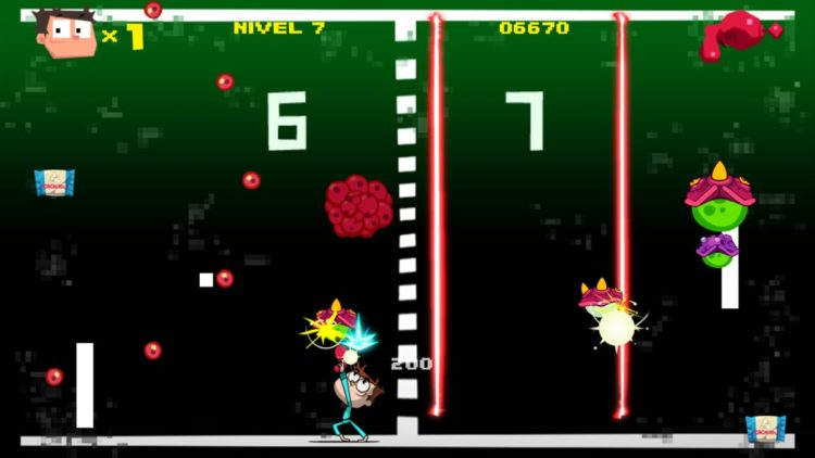 Remember del Pong en Juanito Arcade Mayhem