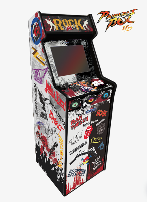 Máquina recreativa arcade modelo Lowboy Pandora Box diseño Rock Bands
