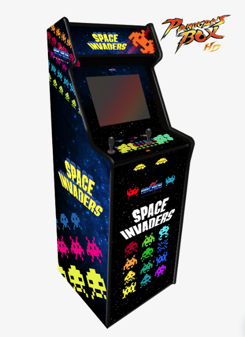 Máquina recreativa arcade modelo Lowboy Pandora Box diseño Space Invaders