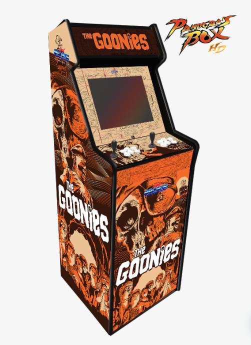 Máquina recreativa arcade modelo Lowboy Pandora Box diseño The Goonies