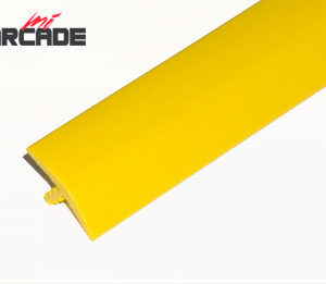 T-molding para cantos de recreativa en color amarillo