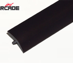 T-molding para cantos de recreativa en color negro