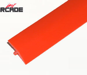 T-molding para cantos de recreativa en color rojo