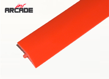 T-molding 16mm para cantos de recreativa en color rojo 1m