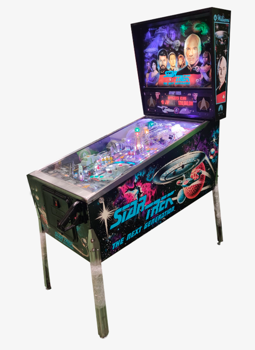 Máquina recreativa arcade pimball modelo Star Trek | ®Williams 1993